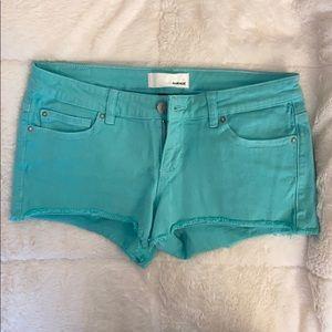 NWOT Garage teal shorts